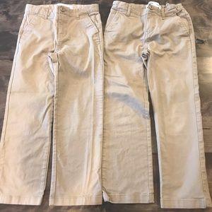 Pair of Boys Old Navy Khaki Chino Pants